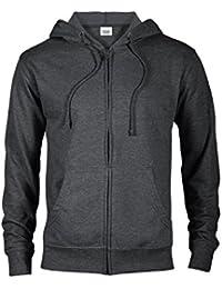 Hoodies for Men Fitted Lightweight Heather French Terry Fleece Full Zip Hoodie Hooded Sweatshirt