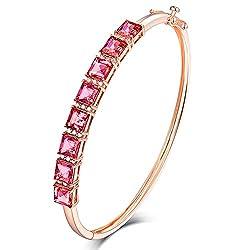 Rose Gold Diamond Tourmaline Bracelet