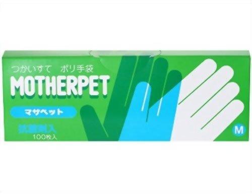 宇都宮製作 マザペット ポリ手袋 M 100枚入 × 15個セット B07R9J42TV  100枚入 × 15点