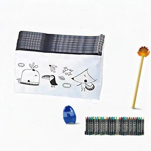 Emotiset Lote de 30 estuches para colorear y 30 packs de ceras,añadimos 1 lápiz con borrador y 1 sacapuntas por Lote.Regalo Original para ...