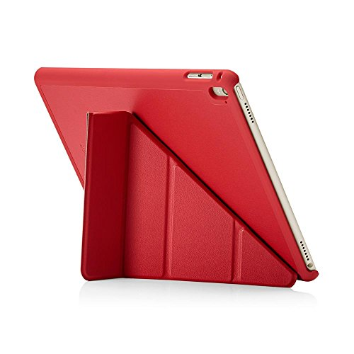 PIPETTO iPad Pro 9.7 Case - Origami Smart Cover - Red Luxe Vegan Leather (Compatible with iPad Pro 9.7 inch)