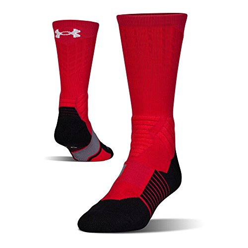 Under Armour Mens Under Armour Drive basketball Crew Single Pair, Red/White, - Real 6pm Brands