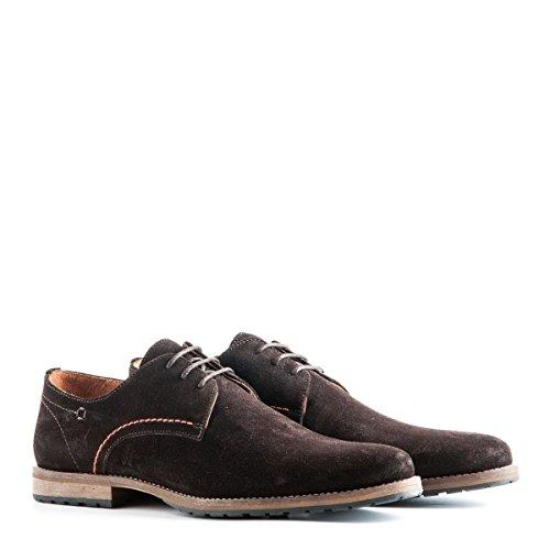 Travelin' Manchester Suede Business Schuhe Herren | Schnürhalbschuhe | Freizeitschuhe | Hochzeitschuhe | Anzugschuhe | Derby Lederschuhe Vielen Farben Dark Braun