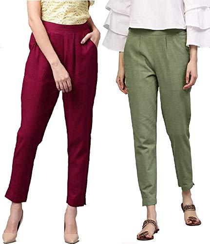 IRK Fashion Women Regular Fit Trouser (Pack of 2)