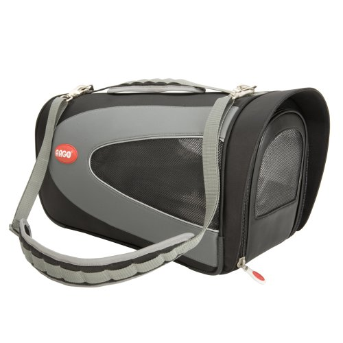 Teafco Small Argo Petascope Airline Approved Carrier,  Black, My Pet Supplies