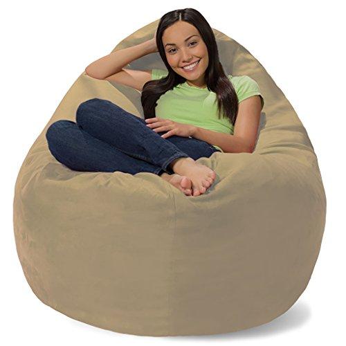 Comfy Sacks Huge Pillow Memory Foam Bean Bag Chair, Toast Pebble by Comfy Sacks