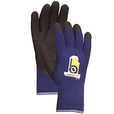 Bellingham Extra Heavy-Duty Insulated Thermal Knit Work Glove, Heavy-Duty Acrylic Liner and Black Rubber Palm
