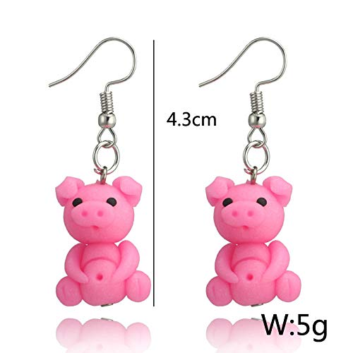 Soft Clay Fashion Jewelry for Girls Aoruisier Pig Earrings 1 Pair Style Material