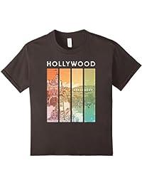Retro Hollywood California Art Shirt : Cali Souvenir Golden