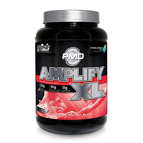 PMD Sports Amplify XL Superior Protein Supplement - Glutamine and Whey Protein Matrix with Superfood for Muscle, Strength and Recovery - Strawberry Slam - 24 Servings (Best Whey Protein For Toning)
