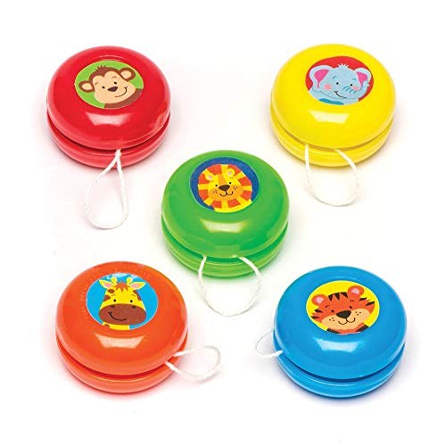Baker Ross Jungle Chums Yoyo (Pack of 6) Colourful Return Tops Perfect for Kids Goodie Bags, Halloween Party Favors, Pinata Filler or Birthday Present]()