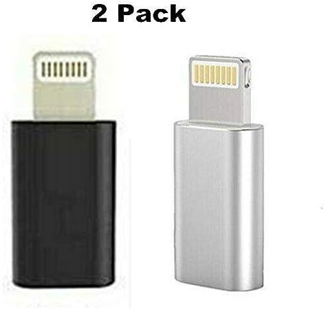 2 Pack Cargador Micro USB Adaptador Convertidor para iPhone XR XS MAX 8 Plus 11 Pro: Amazon.es: Electrónica