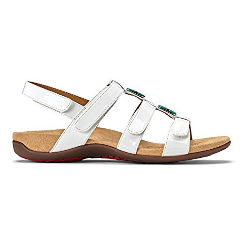 Sport White Patent Leather (Vionic Women's Amber Adjustable Sandal White Patent 10 M)