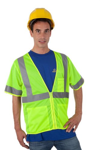 Liberty HiVizGard Polyester All Mesh Fabric Class 3 Safety Vest with 2