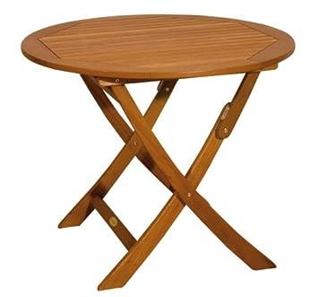 Gartentisch Holztisch Runder Tisch Klapptisch Rund 90 Cm
