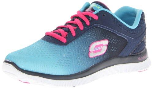 Skechers Flex AppealStyle Icon - Zapatillas de material sintético para mujer azul - Blau (NVBL)