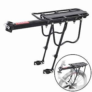 JU&MU - Portabicicletas Trasero de liberación rápida de aleación de Aluminio con Soporte para Bicicleta