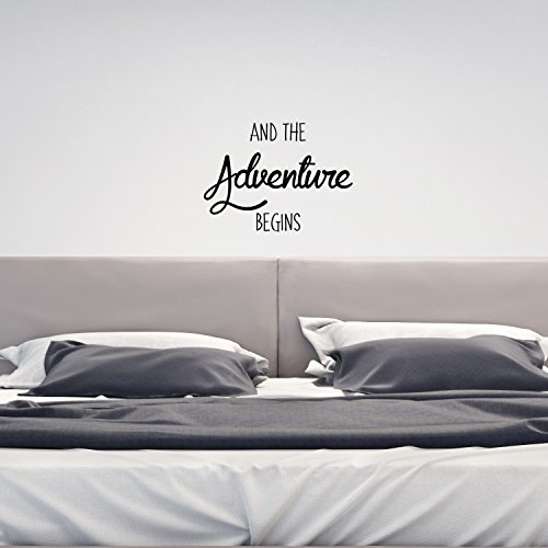 And The Adventure Begins - Inspirational Quotes Decor - Wall Art Decal 17