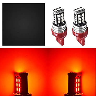 LABLT 2pc 7443 Red LED Strobe Flash Blinking Brake Tail Light/Parking Bulbs: Automotive