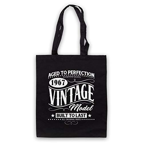 Born Vintage Model Clothing 1967 In Art Icon Birth Year Bag Tote Date amp; My Black Ynx0RWY