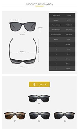De Gafas UV C1 para Polarizadas Sol 400 Protección Mujer Aviator para Hombre C2 4SSfwxR