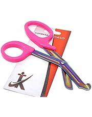 "EMT Trauma Shears Scissors Multi-Colour Non-Stick Stainless Steel Blades - Premium Quality 7.25"" (Pink Handle)"