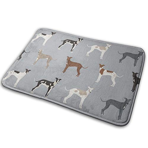 - YANAIX Italian Greyhound Fabric - Cute Dogs Coat Colors and Markings Dog Fabric Design_557 Doormats Bath Rugs Outdoor/Indoor Carpet Bathroom Decor Rug 16