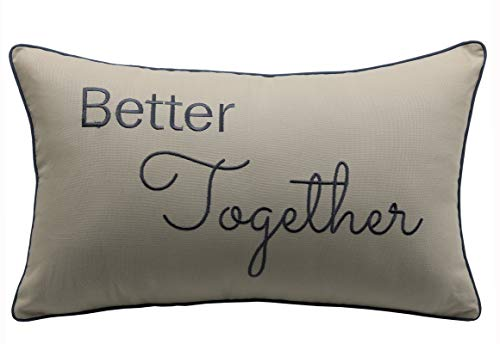 YugTex Pillowcases Better Together,Family Pillow,Home Decor,Lumbar Pillow Wedding Gift, Engagement Present, Housewarming Gift, Throw Cushion Cover(12