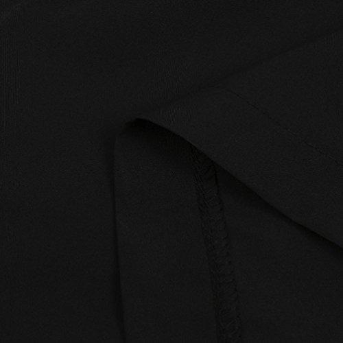 Slim Tinta Skinny Elasticizzati Fascia Pantaloni Corti Casual Vita Leggeri Larghi Fit Forti Eleganti Strappato Alta Elastici Cotone Unita Taglie Donne Nero In Pantaloncini Puro SOMESUN a 1gwqPP