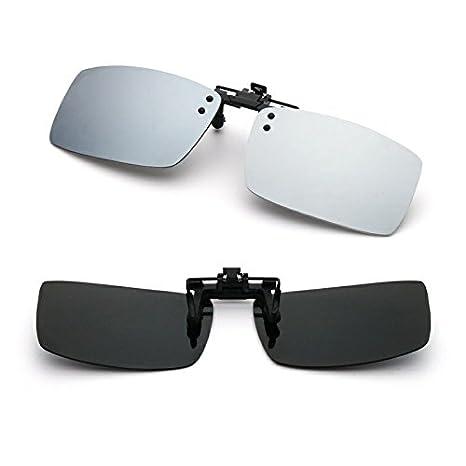 Cyxus polarizado reflejado lentes clásico gafas de sol Gafas con clip [Anti reflejante] Protección uv, para conducción / pesca / esquí / deporte, ...