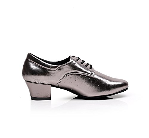 Low Grey Latin Synthetic Women's Shoes Prom TQJ3004 Tango Pumps Dance Heel Ballroom Evening Heel Minitoo 4cm qO14E4