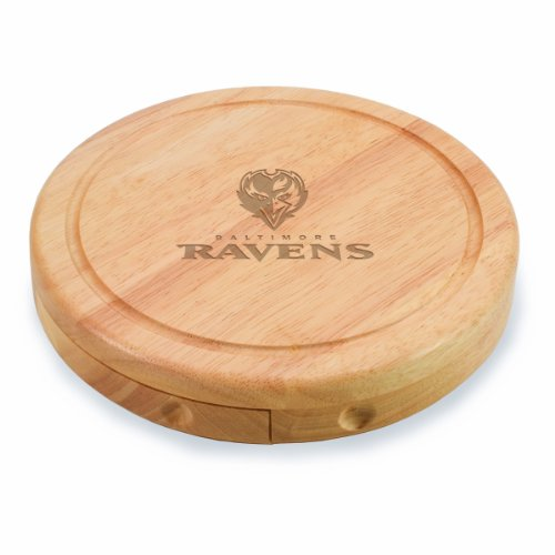 NFL Baltimore Ravens Brie Cheese Board/Tool Set, 7-1/2 Inch
