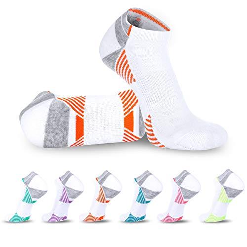 LITERRA Womens Low Cut Athletic Hidden Running Socks Breathable Cushion Sport No Show Sock (6 Pack)