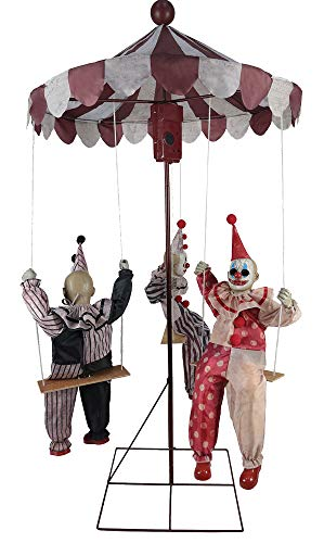 MARIO CHIODO Seasonal Visions Animated Clown Go-Round Prop ()