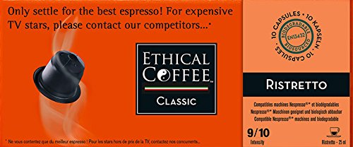 Nespresso® Compatible Coffee Capsules by ETHICAL COFFEE- VARIETY PACK - 50 Capsules