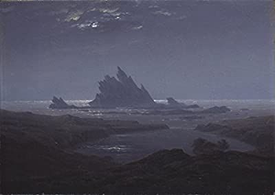 Rocky Reef on the Sea Shore c by Caspar David Friedrich. 100% Hand Painted. Oil On Canvas. Reproduction. (Unframed and Unstretched).