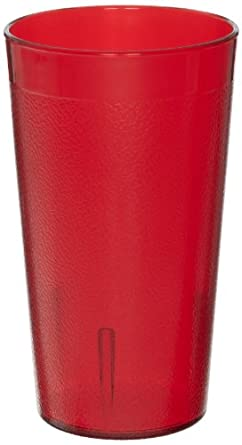 Cambro 1200P156 12.6 -Ounce Capacity 2-15/16-Inch Diameter by 5-3/16-Inch Height Ruby Red Plastic Colorware Tumbler (Case of 12)