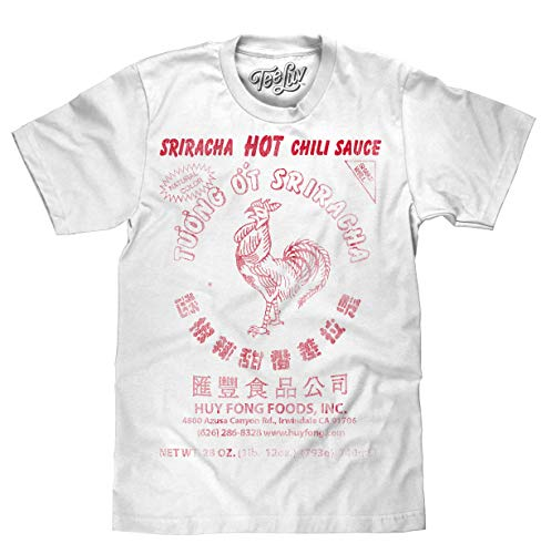 Like Chicken T-shirt - Sriracha Hot Chili Sauce Logo White  Soft Touch Tee-small White