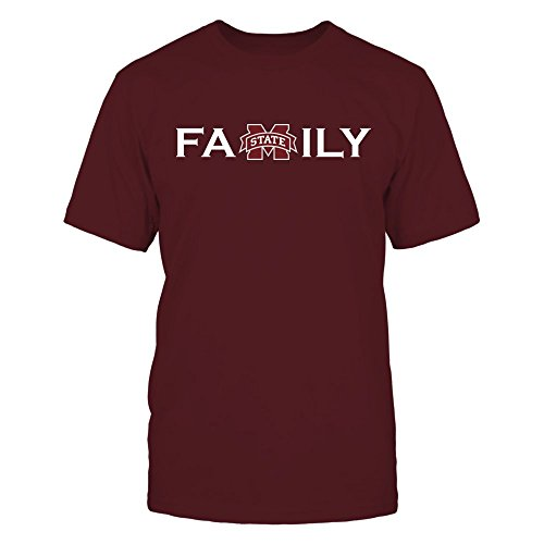 FanPrint Mississippi State Bulldogs T-Shirt - Mississippi State Gear - Men's Tee/Maroon / 3XL - Mississippi State Bulldogs Gear