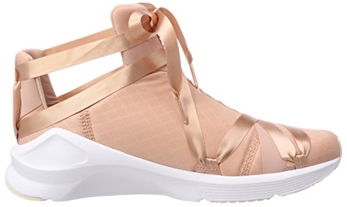Beige Puma Trainers Peach Rope Fierce Cross pearl puma WN's Women's Satin Ep White zTrz0