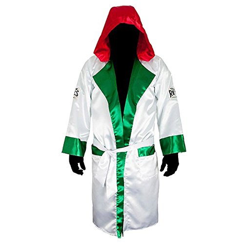 Cleto Reyes Satin Boxing Robe Hood - X-Large - Mexican Flag