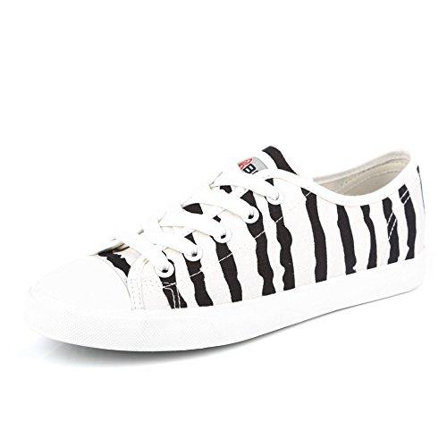Casualesesese lona coreana de Banda pintura con versión fondo de C color Los verano Zapatos cordones plano estudiantes en la zapatos YACqw