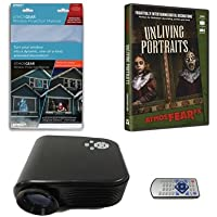 Virtual Reality Halloween Projector Value Kit with Unliving Portraits AtmosFEARFx DVD and Screen