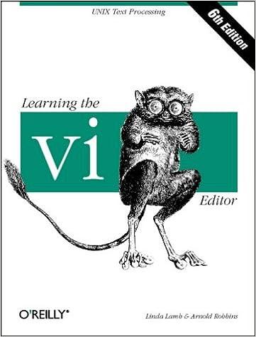 Learning the vi Editor (Nutshell Handbooks)