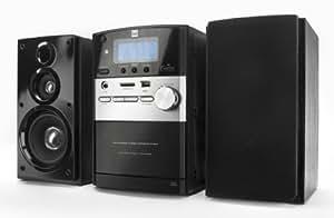 Dual ML-44 - Minicadena (CD, casette, MP3, lector de tarjetas, USB, radio, mando a distancia) color negro (importado)
