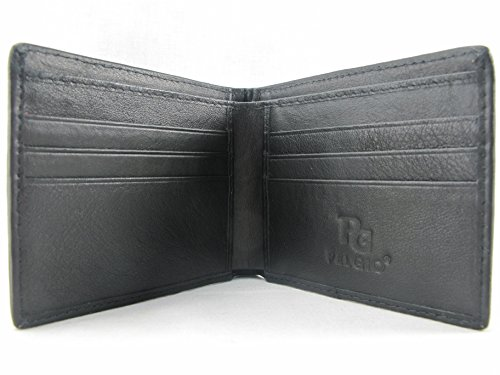 Black PELGIO Bifold Stingray Genuine Leather Wallet Skin PELGIO Genuine gq86UU