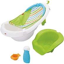 Bañera Fisher-Price 4 en 1 Sling 'n Seat, Bañera 4-en-1 Sling 'n Seat, paquete de de 1, Multicolor