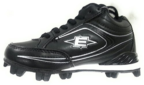 Easton Boy's Youth Titan Mid Baseball Cleats Black B24254 by Easton