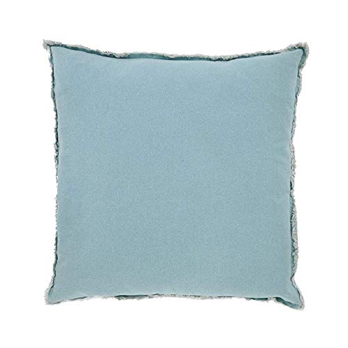 - Mud Pie Aqua Washed Canvas Pillow