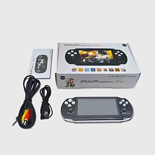 BAORUITENG Handheld Game Console , Retro Game Console with 3000 Classic Games 4.3'' 64 Bit Portable Game Console Support / Camera GBA / GBC / SEGA / NES / SFC / NEOGEO and Loss-Less Music (White) by BAORUITENG (Image #5)